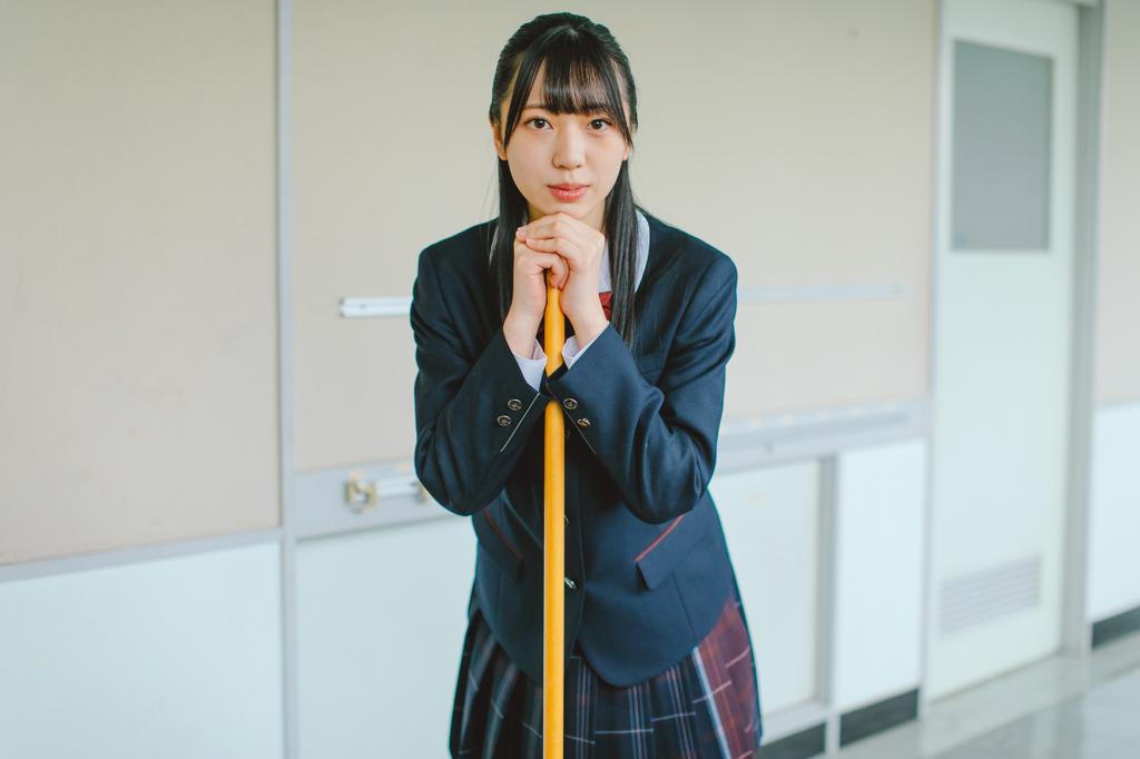 宇部フロンティア大学付属中学校モデルHKT48坂本りのインタビュー ...